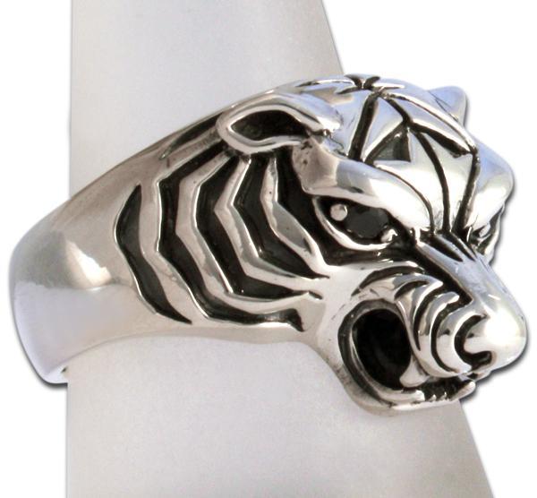 "Tiger-Ring ""Schwarzer Onyx"" - Auslaufmodell"
