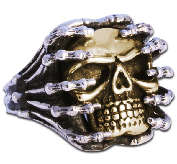 band demon cool evil mens skull motorcycle biker big evbea ring dp longhorn wide rings