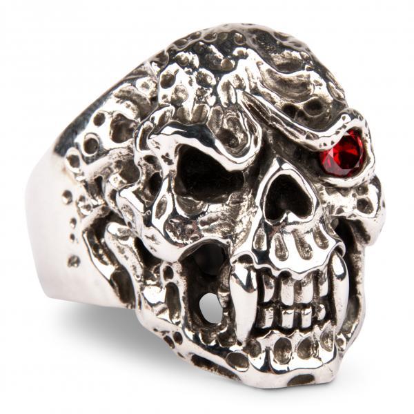 Riesiger Vampir-Totenkopf Gothic Ring