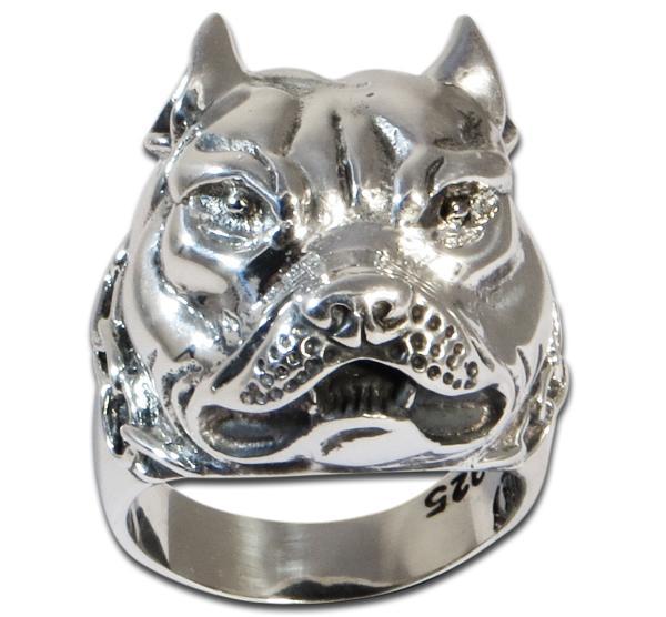 Bulldogge/Pitbull mit Ketten-Halsband