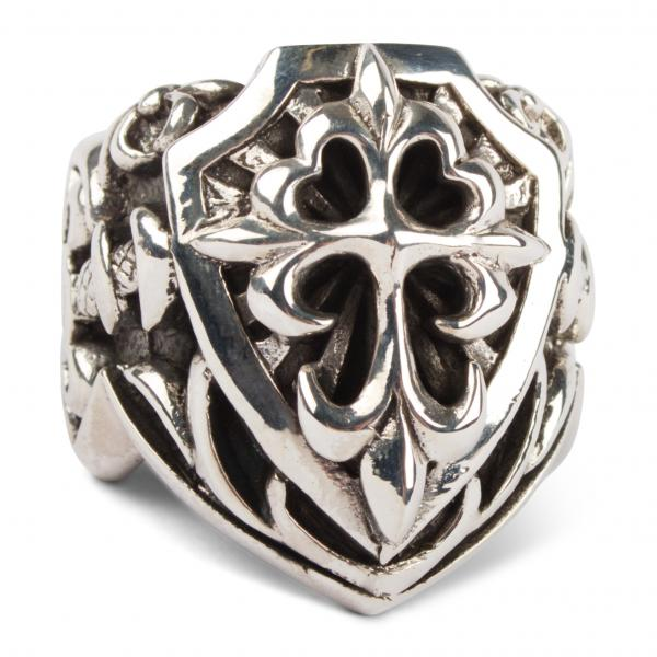 Huge Knights-Crest Silver Ring