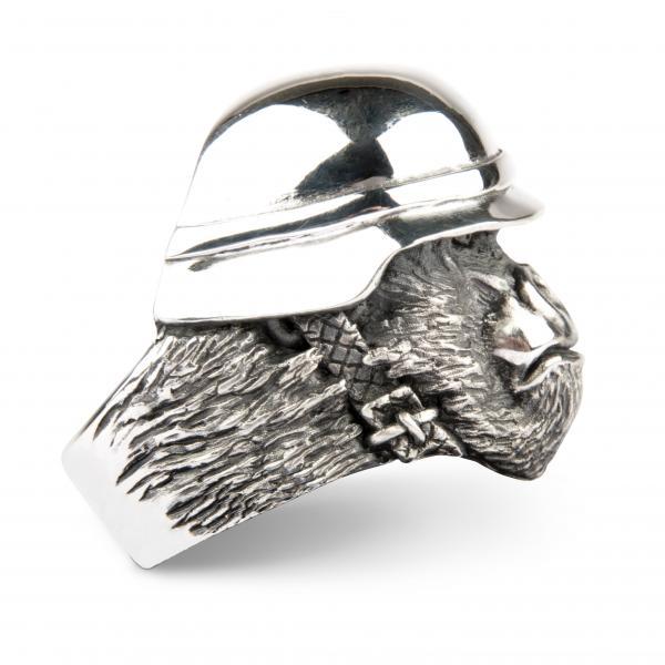 Gorilla mit Stahlhelm - XXL Biker Ring