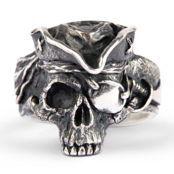 Störtebeker - Premium Piraten Totenkopfring