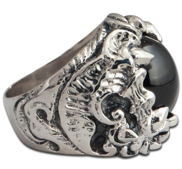 Stachelklaue - Ring mit schwarzem Onyx