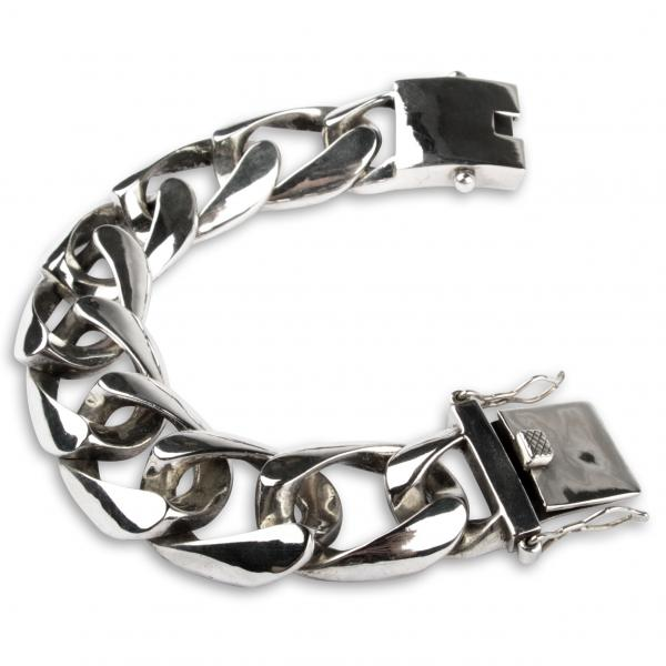 "Cuban 25 mm Sterling Silver Bracelet ""Heavy"""