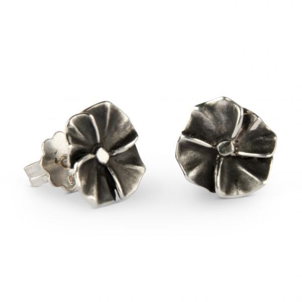 Blumen Ohrstecker aus Sterling Silber