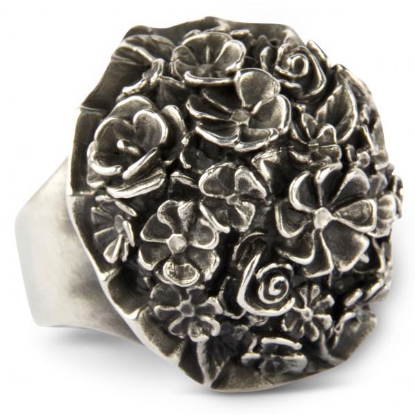 Großer Blumenstrauss Ring