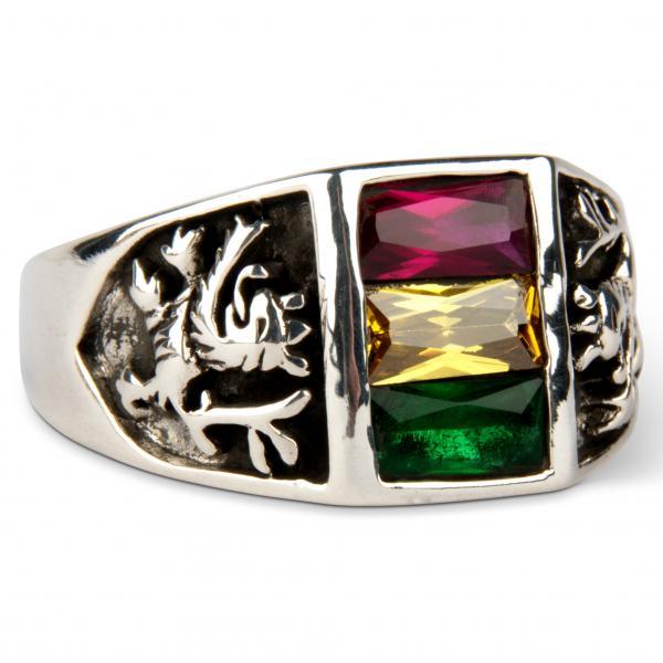 Rastafari Ring - Siegreicher Löwe von Juda