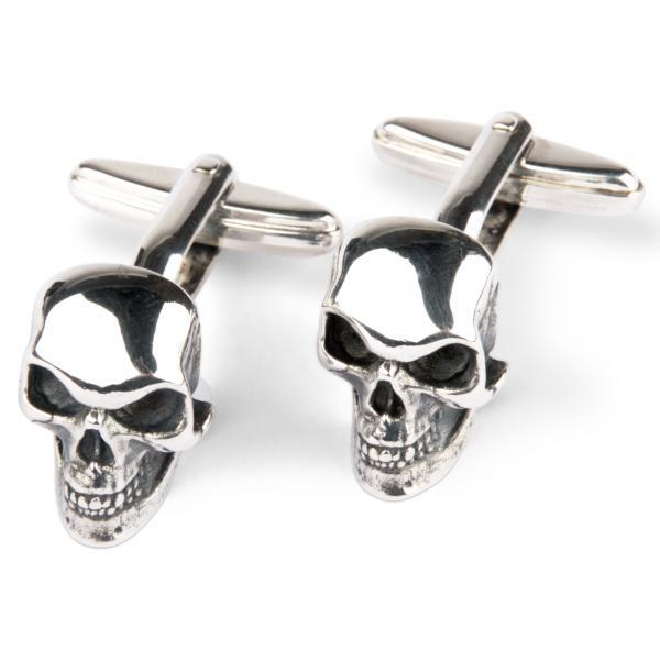 Totenkopf Manschettenknöpfe aus Sterling Silber