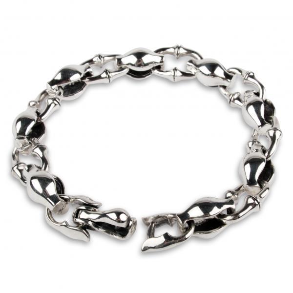 Silber-Armband mit wechselnden Kettengliedern