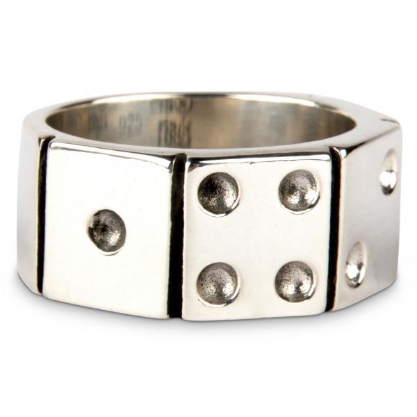 Würfel-Glücksbringer Ring