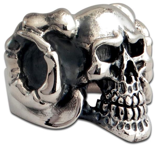 Longhorn Dämonen-Totenkopf Ring
