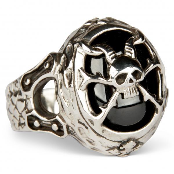 Mittelalterlicher Dämonensiegel-Gothic-Ring