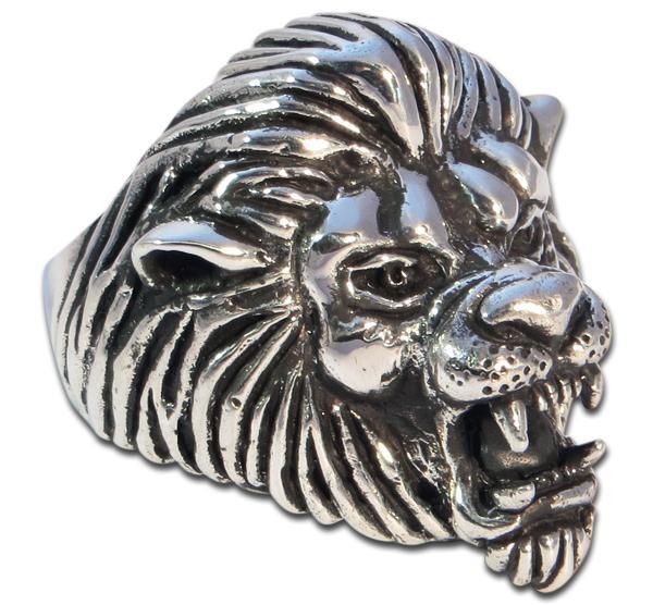Löwenkönig - Großer Silberring