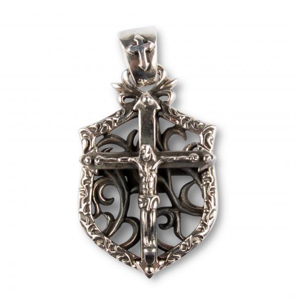 Jesus Christus Silber-Kreuz Kettenanhänger