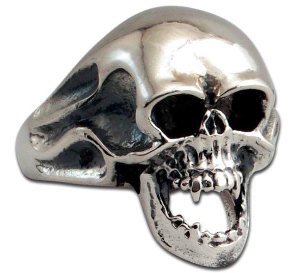 Brennender Vampir-Totenkopf Ring