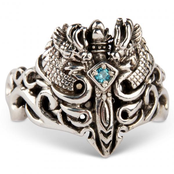 Keltisches Drachenschwert - Mittelalter-Ring