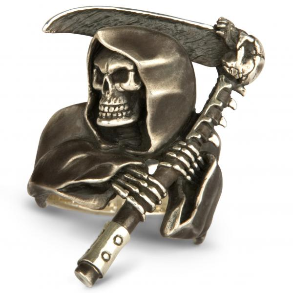 Grim Reaper Ring XXL - With Scythe