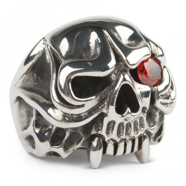 Schwerer-Vampir-Totenschädel Gothic Ring