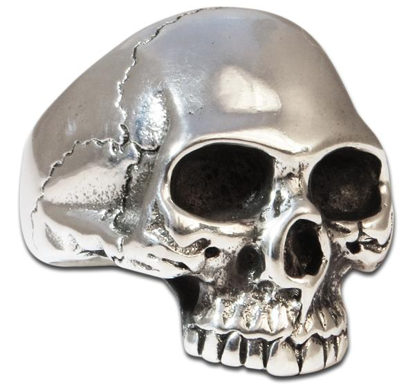 Anatomically Correct Skull Ring, Solid, Large & Heavy