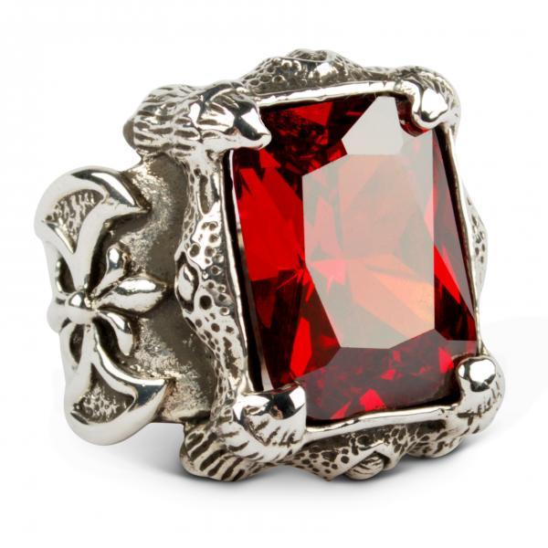 Mächtiger Drachenklauen-Ring - Rot