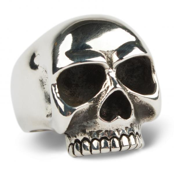Totenkopfring Tribute to Keith aus Sterling Silber