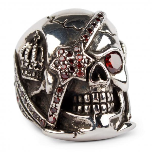 Roter Pirat - Sagenhafter Piraten-Totenkopfring