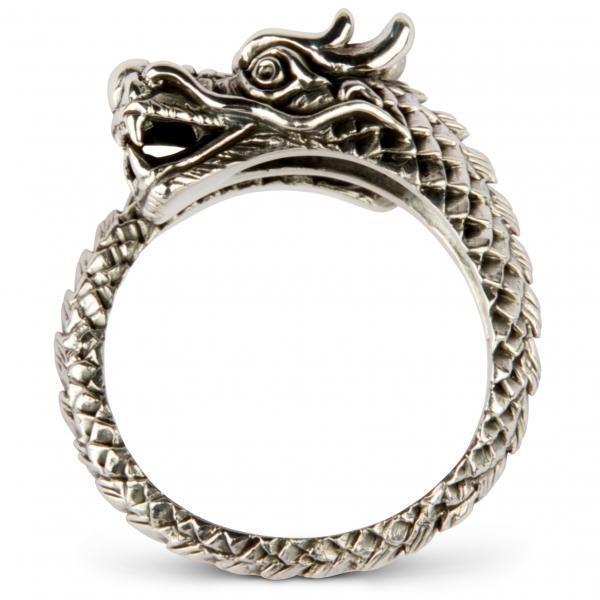 Kleiner Drache - Silberring