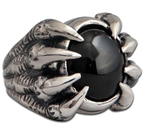 Monsterklaue - Ring mit schwarzem Onyx