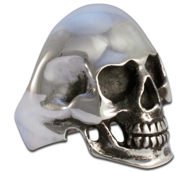 Klassischer Totenkopf Ring