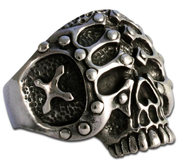 Gladiatoren-Totenkopf Ring