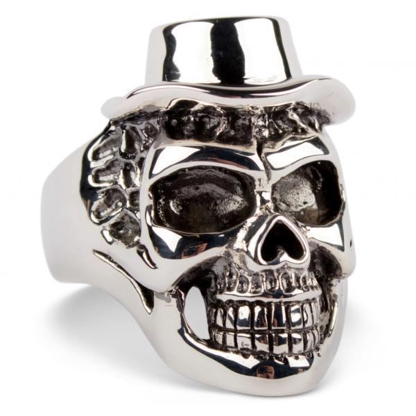 Cowboy Totenkopf Silber Ring
