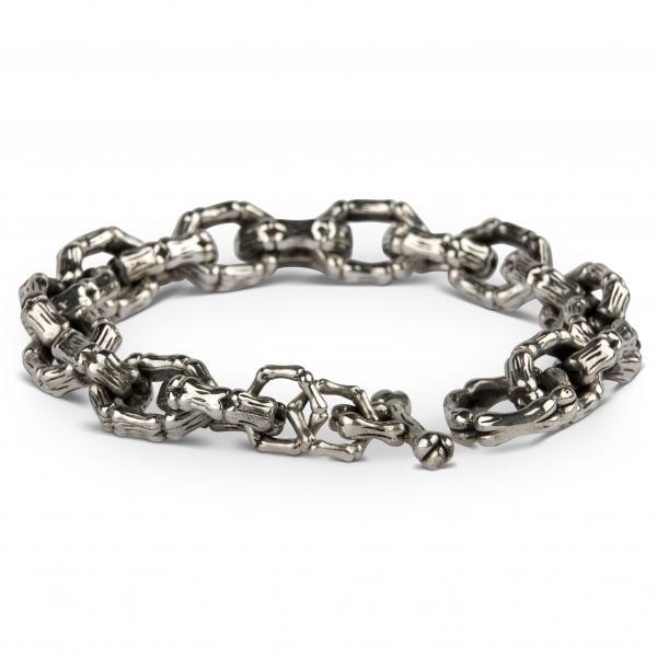 """Breites Silber-Armband """"Knochenkette"""""""