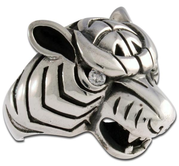 Tiger-Ring mit Diamantenblick