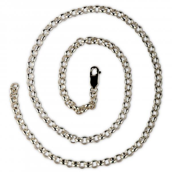 5mm Silberkette mit Karabiner, kürzbar