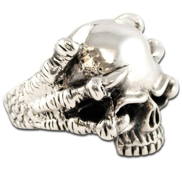 Dragonclaw Skull Ring - New Version!