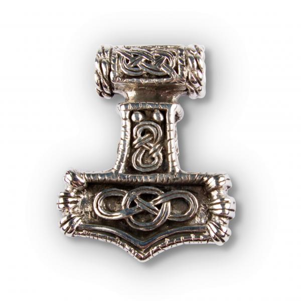 Verzierter Thors Hammer Anhänger, massiv